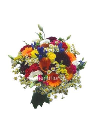 Consegna Fiori On Line.Bouquet Di Fiori E Colori Assortiti Momenti Fiori Fiori A